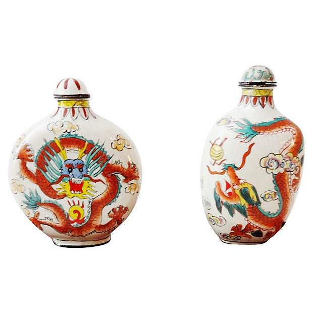Chinese Dragon Snuff Bottles- A Pair - Image 6 of 7
