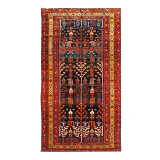 "Pasargad Antique Persian Bakhtiari Hand-Knotted Rug - 6'5"" X 12'3"" For Sale"