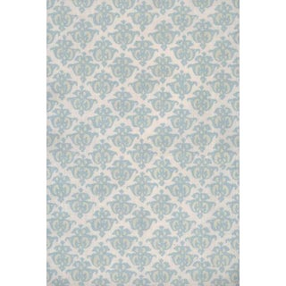 "Designer Pintura Studios ""Quatrefoil"" Hand Printed Linen Fabric- 2 Yards For Sale"