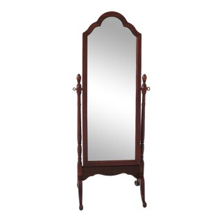 1990s Vintage Pennsylvania House Cherry Cheval Dressing Mirror For Sale