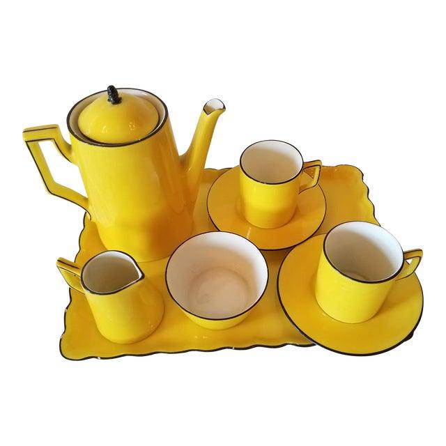 Antique Miniature Tea Set for Two - 8 Pieces For Sale