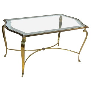 1940s French Maison Ramsay Bronze Cocktail Table For Sale