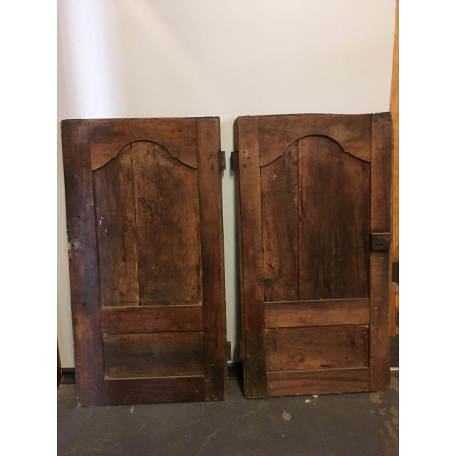 Late 18th Century Walnut French Cabinet Doors- a Pair For Sale - Image 4 of 11