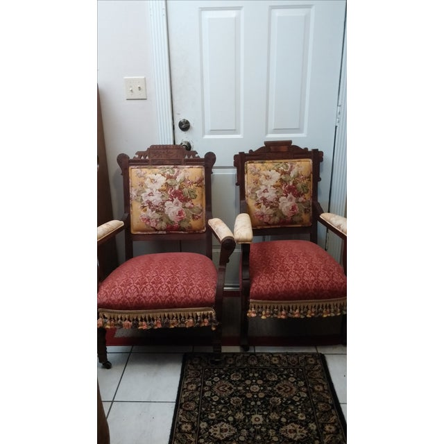 Vintage Eastlake Armchairs - A Pair - Image 9 of 11