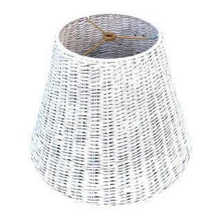 1970s Vintage Wicker Lampshade For Sale