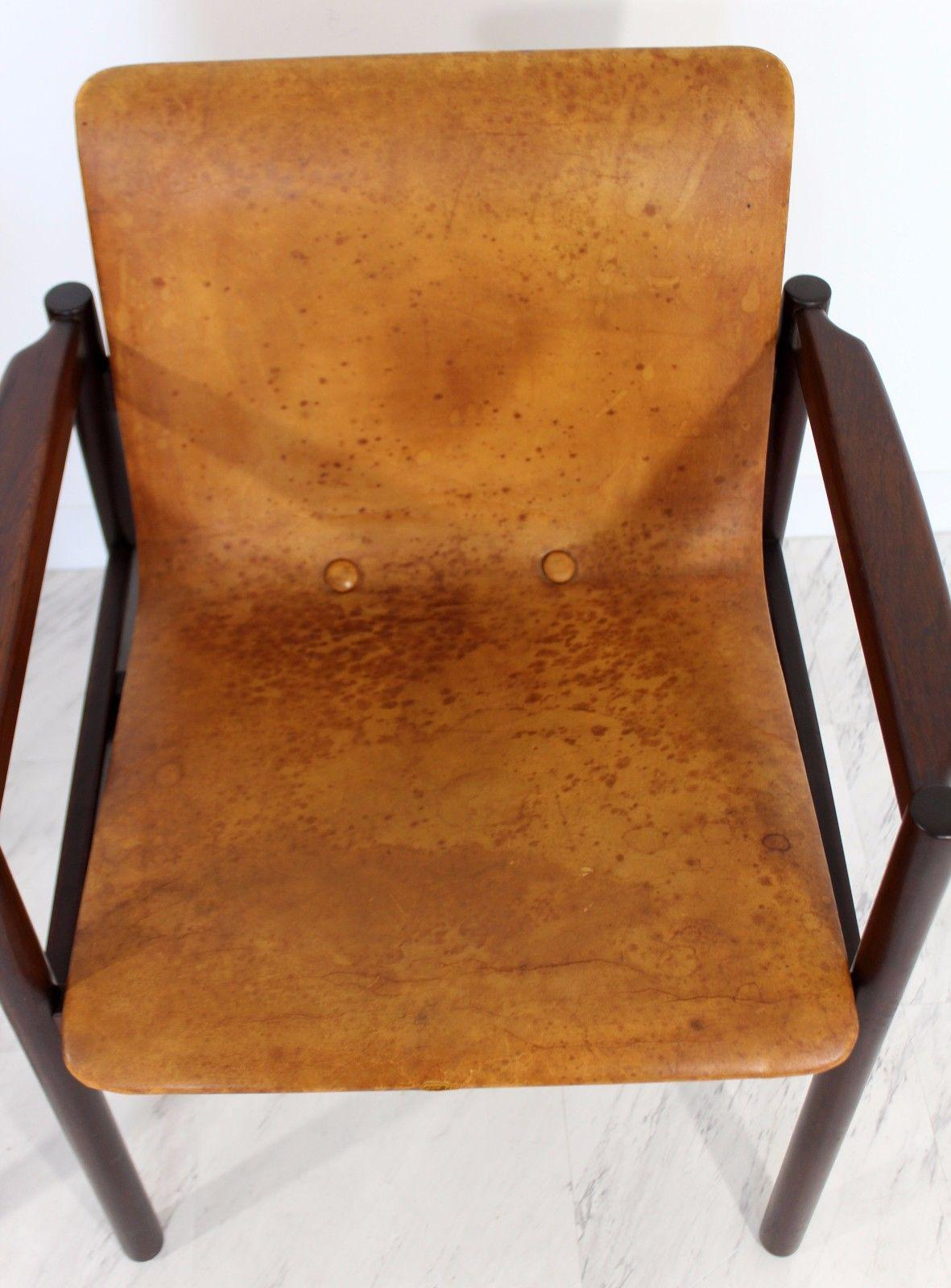 Rosewood 1960u0027s Mid Century Modern Brazilian Rosewood Chairs Michel Arnoult  Style   A Pair For