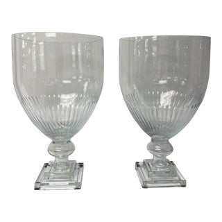 Contemporary Glass Urns - a Pair For Sale