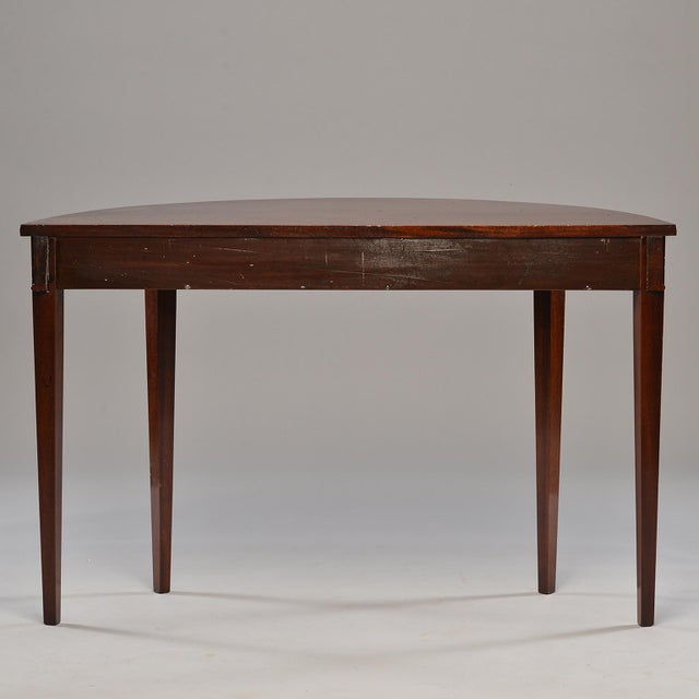English Mahogany Demi Lune Tables - a Pair For Sale In Detroit - Image 6 of 13