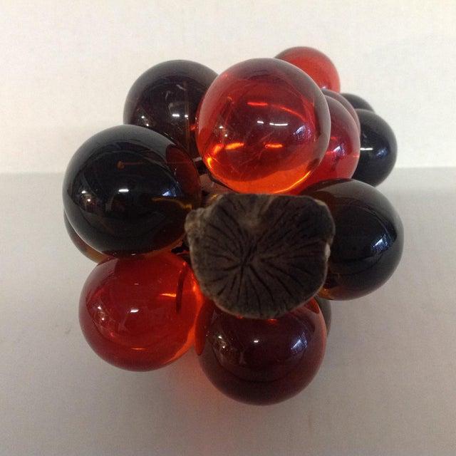Vintage Mid-Century Orange Lucite Grapes - Image 7 of 7