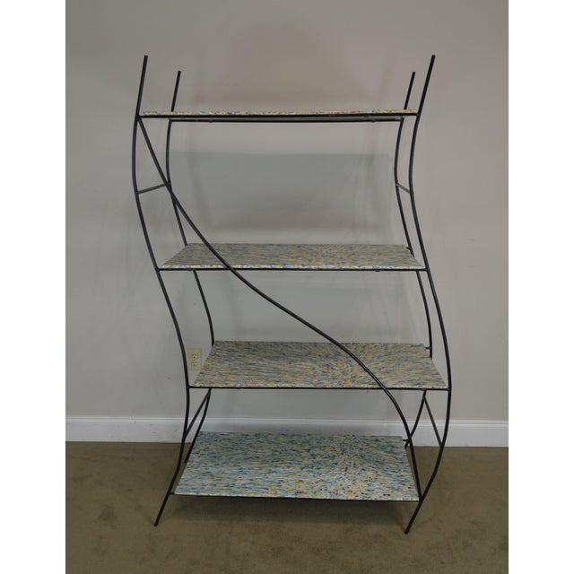 1950s Whimsical Mid Century Modern Iron Etagere Display Rack For Sale - Image 5 of 12