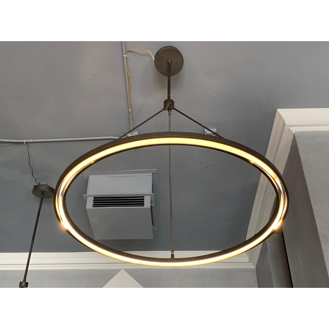 Peralta Round Chandelier by Jon Sarriugarte For Sale - Image 4 of 13