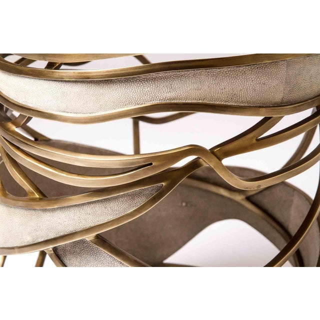 Bronze-Patina Brass Side Table by Kifu, Paris For Sale - Image 9 of 10