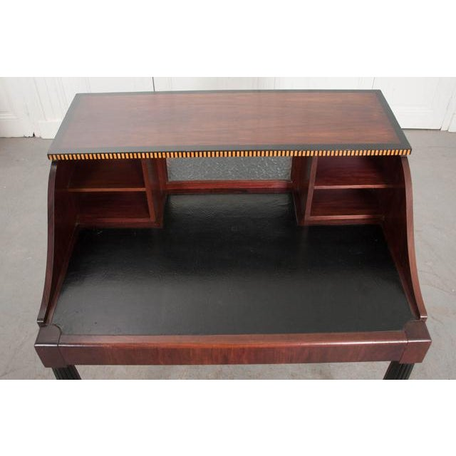 Early 20th Century French Early 20th Century Art Deco Mahogany Partners Desk For Sale - Image 5 of 11