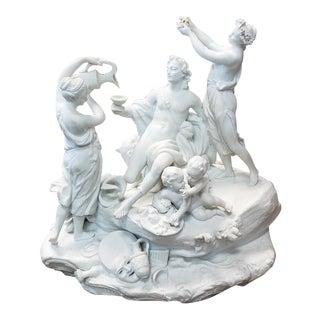 """""""Le Triomphe De Bacchus"""" Bisque Surtout De Table For Sale"""