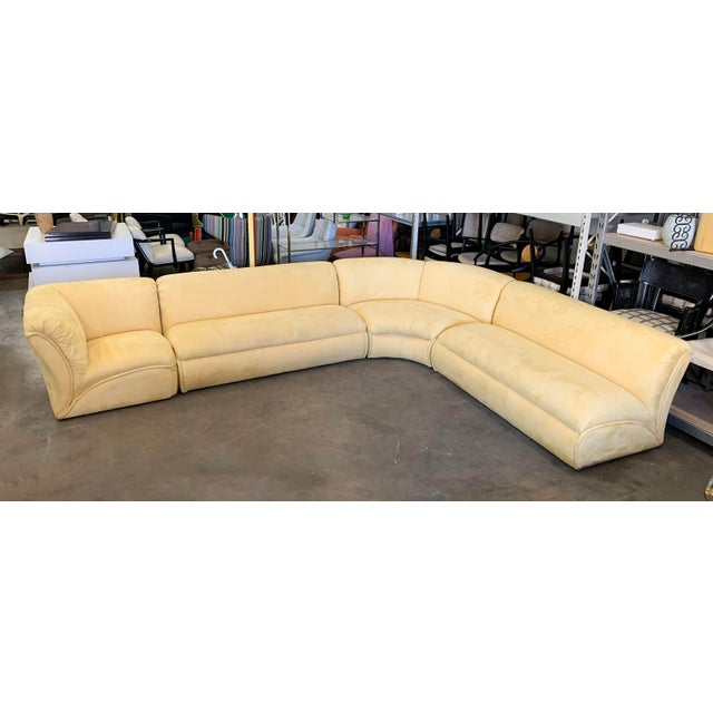 1980s Large Postmodern 4 Piece Sectional Sofa, 1980's For Sale - Image 5 of 5