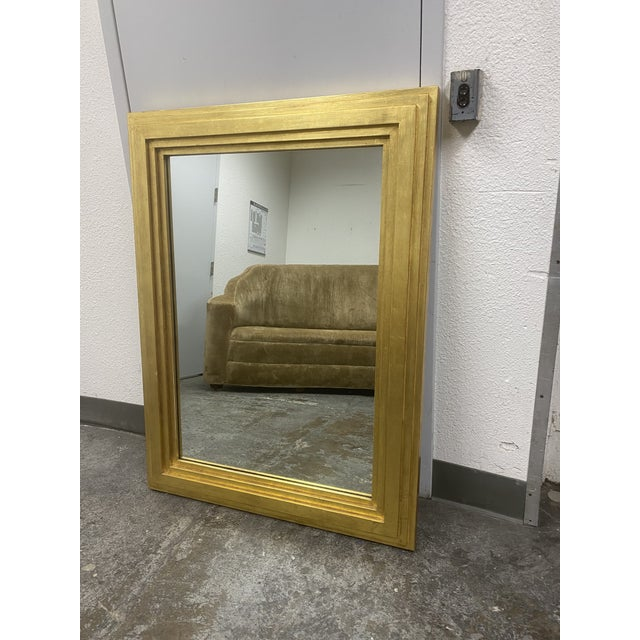 Design Plus Gallery presents a Custom Gold Gilt Tiered Frame Mirror by City C Studio. A Smooth gold gilt is applied to the...