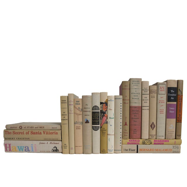 Mid-Century Modern Midcentury Readings in Neutral Book Set - Set of 20 For Sale - Image 3 of 3