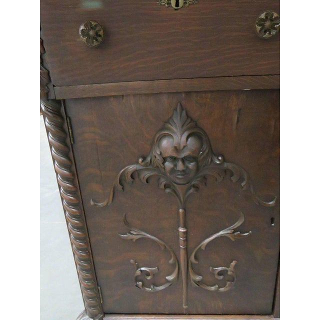 Wood Renaissance Style Sideboard With Superstructure For Sale - Image 7 of 13
