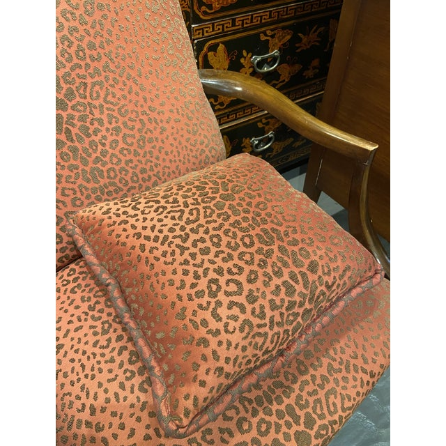 19th Century English Mahogany Lolling Chair For Sale In Boston - Image 6 of 9