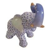 Image of 1980s Vintage Herend Blue Elephant For Sale