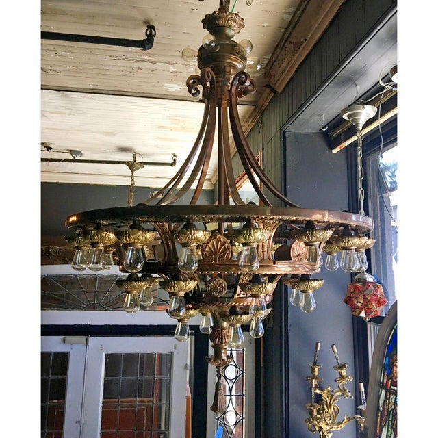 Late 20th Century Beaux Arts Style Chandelier For Sale - Image 4 of 7