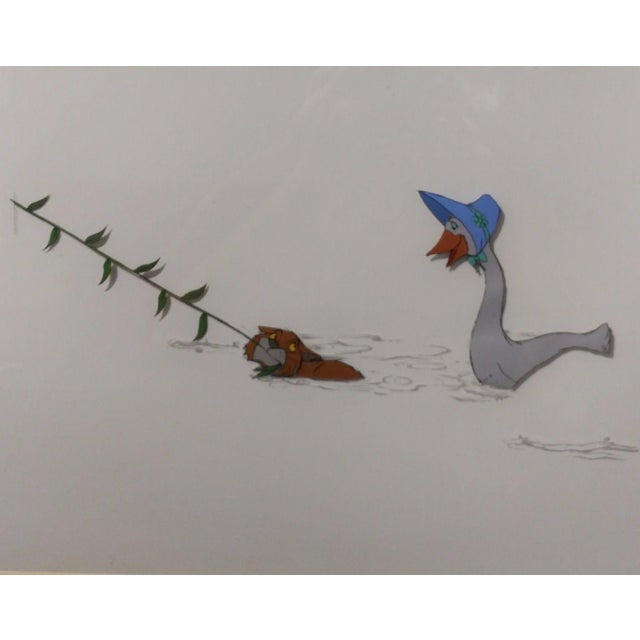 Realism Disney original Animation Drawing Cell -O'Malley & Amelia - The Aristocats 1970 For Sale - Image 3 of 9