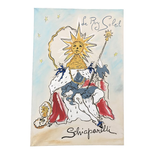 Schiaparelli Le Roy Soleil Advertising Perfume Redesigned Painting For Sale