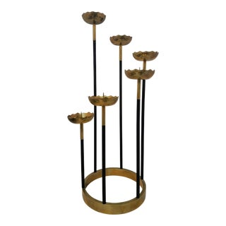 Mid-Century Brass Candle Stick Holder For Sale