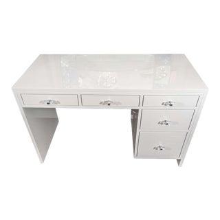 Custom Grey Lacquer Desk For Sale