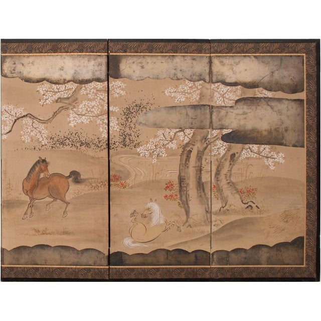 19th Century Late Edo Era Gold Leaf Japanese Byobu Screens- a Pair For Sale In Dallas - Image 6 of 13