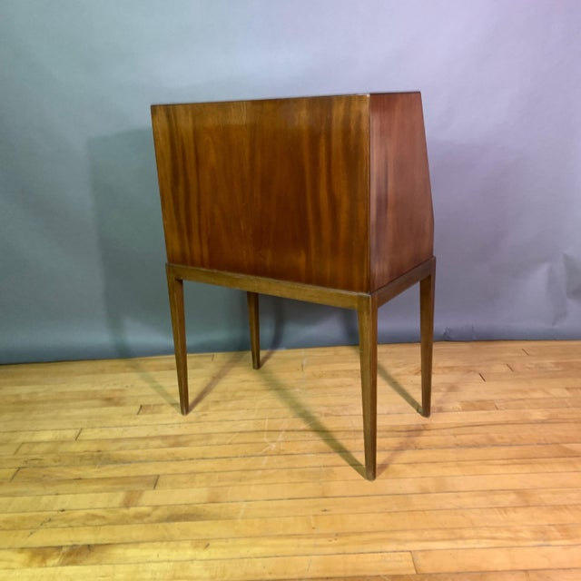 Brown Fritz Henningsen Mahogany Silverware Flip-Down Cabinet, 1970s For Sale - Image 8 of 9