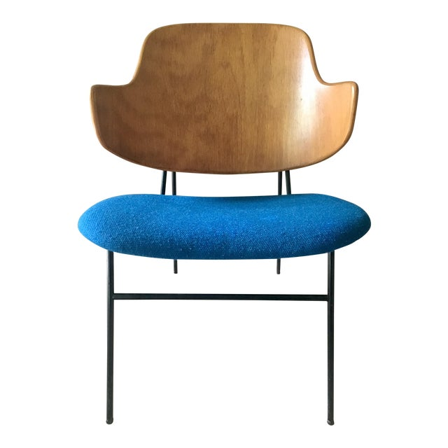 "Ib Kofod Larsen ""Penguin"" Chair in Blue - Image 1 of 11"