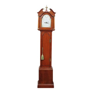 "Miniature Mahogany Long Case Clock Marked ""Peatling"" For Sale"