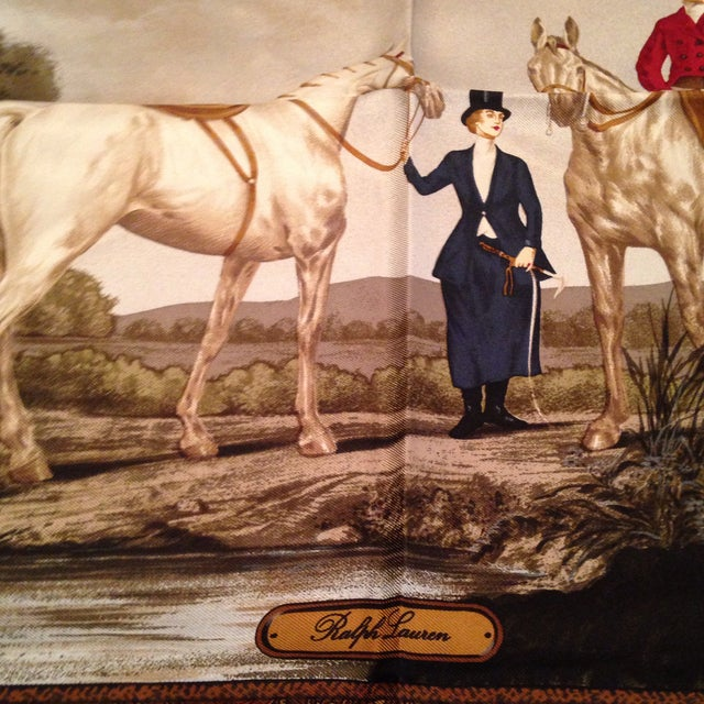 Vintage Silk Ralph Lauren Scarf For Sale - Image 5 of 8