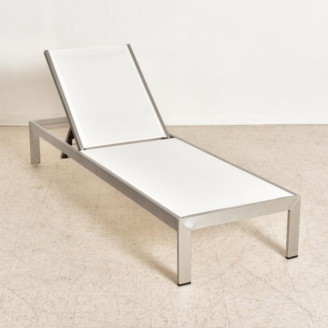 Palm Springs Outdoor Aluminum Lounge Chair For Sale - Image 4 of 13