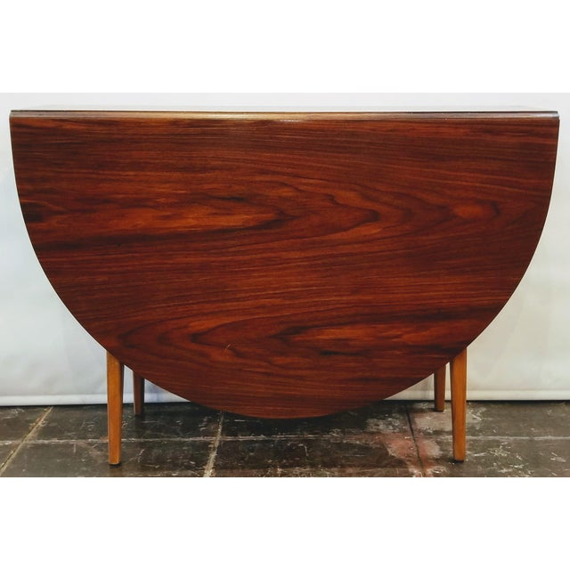 Maroon Mid-Century Danish Modern Sutcliffe of Todmorden S Form Drop Leaf Table For Sale - Image 8 of 12