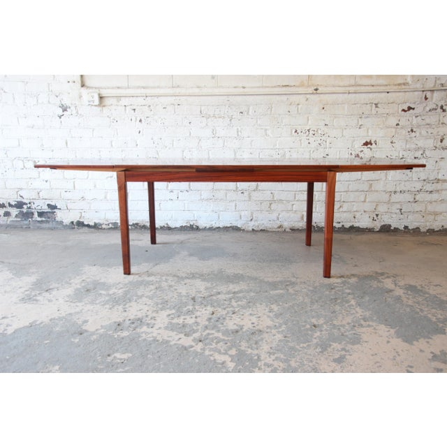 H. Sigh & Sons Arne Vodder for Sigh & Sons Danish Modern Rosewood Extension Dining Table For Sale - Image 4 of 10