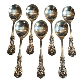 Francis I by Reed & Barton Sterling Round Bowl Soup Spoons For Sale