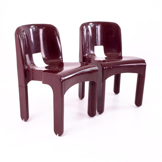 Joe Colombo Kartell Mid Century Plastic Chairs - Pair For Sale - Image 10 of 10