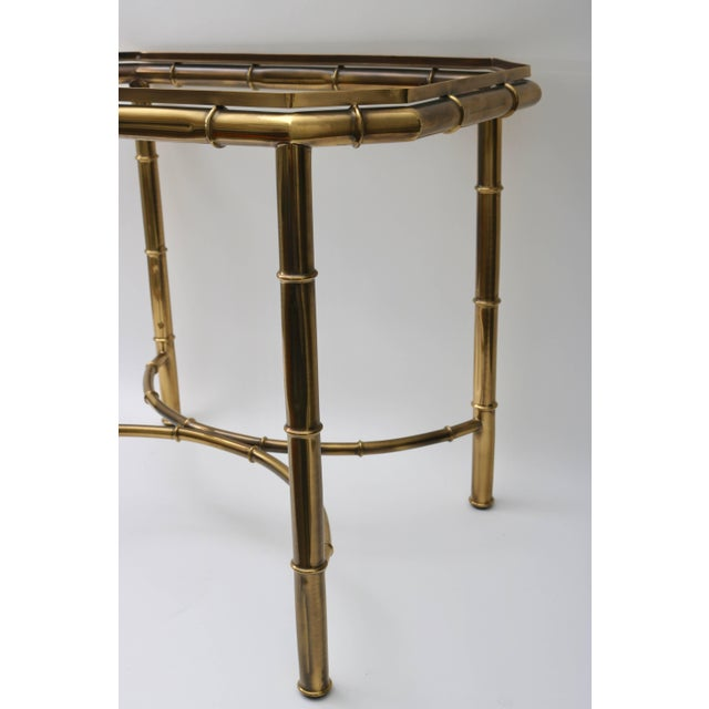 Mastercraft Faux Bamboo Tray Table in Antique Brass For Sale In West Palm - Image 6 of 10