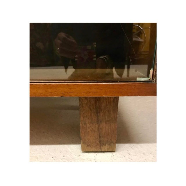 1950s Mid-Century Modern Herman Miller George Nelson Two Part Glass Bookcase Cabinet For Sale - Image 5 of 7