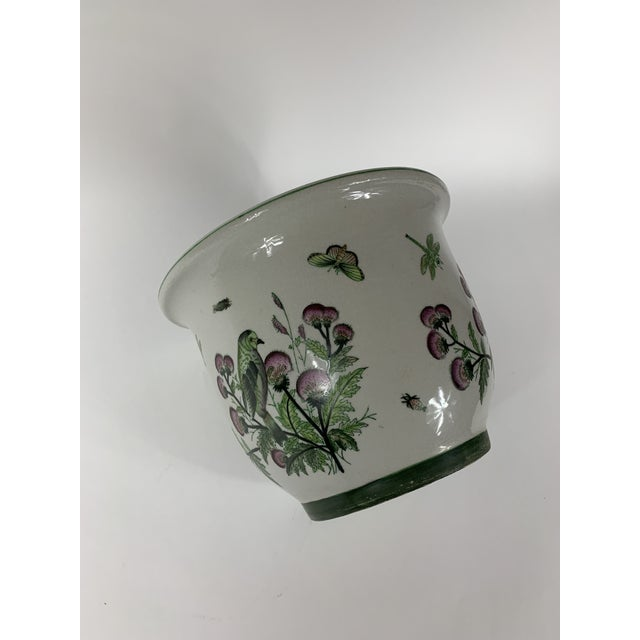 Late 20th Century Late 20th Century Ceramic Floral Planter For Sale - Image 5 of 7