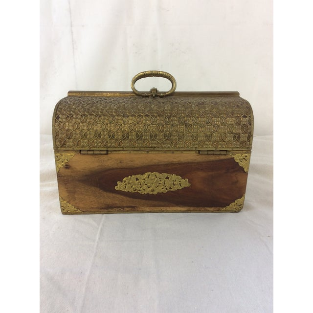 Art Deco Handmade Indian Bridal Box For Sale - Image 3 of 9