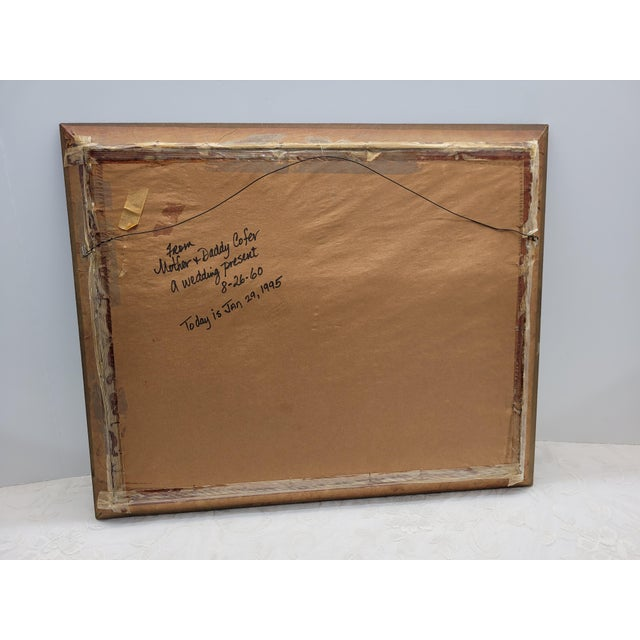 Gold Vintage 1960s Gesso Gold Wood Square Wall Mirror For Sale - Image 8 of 10