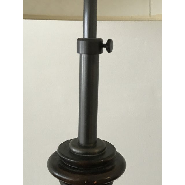 Vintage Adjustable Barley Twist Table Lamp With Shade For Sale - Image 4 of 12
