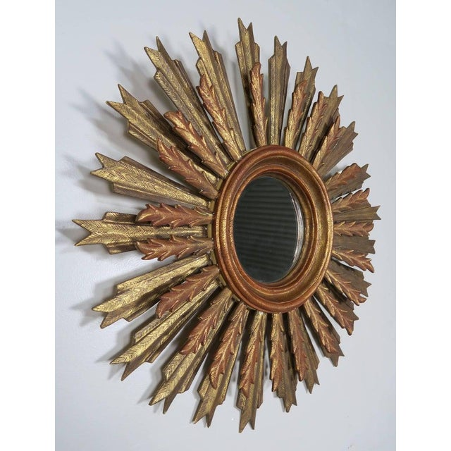Spanish Carved Sunburst Mirror, Circa 1930 For Sale In Los Angeles - Image 6 of 13