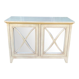 Nancy Corzine Mirrored Lombard Buffet Console Cabinet Credenza For Sale