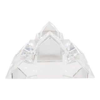 Exquisite Sculptural Baccarat Faceted Ashtray in Triangular Form For Sale