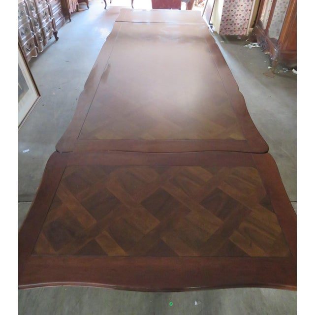 Country French Parquetry Top Refractory Dining Table For Sale - Image 4 of 8