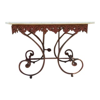 19th Century French Iron Baker's Table For Sale